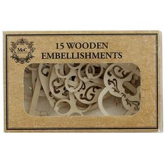 Lock And Key Wooden Embellishments - Pack Of 15 | Card Making Supplies at The Works