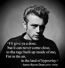 ❤ James Dean was born on February 8, 1931, in Marion, Indiana. He starred in the film adaptation of the John Steinbeck novel East of Eden, for which he received an Oscar nomination. His next starring role, in Rebel Without a Cause, made him into the embodiment of his generation. Shortly after completing work on the film Giant, Dean was killed in a car crash at 24 yrs old. ❤ Favorite James Dean Quote- Dream as if you'll live forever. Live as if you'll die today ❤