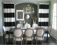 I love this black and white dining room!