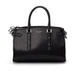 Aspinal of London Women's Brook Street Tote Bag - Black (42,170 PHP) ❤ liked on Polyvore featuring bags, handbags, tote bags, tote purses, zip tote, zipper purse, zipper handbag and structured handbags