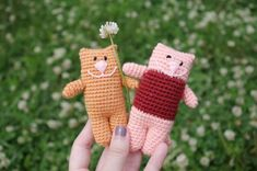 Crochet Cat crochet Kitten amigurumi Cat toy by CuteLambKnitting
