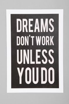 Kimsey Price For Society6 Dreams Don't Work Unless Art Print  #UrbanOutfitters
