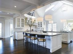 beautiful white kitchens | Beautiful White Kitchens | White Linen Interiors LLC Miami