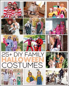 Over 25 of the most creative DIY Family Halloween Costumes ever!! Fun and inexpensive ideas for the entire family. www.thirtyhandmadedays.com