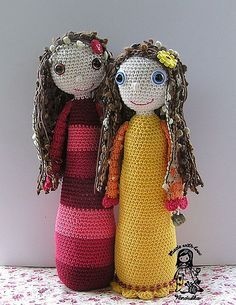 #amigurumi #dolls from #ravelry http://www.ravelry.com/projects/VendulkaM/jana--maruska