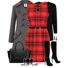 Tartan Dress, created by amo-iste on Polyvore