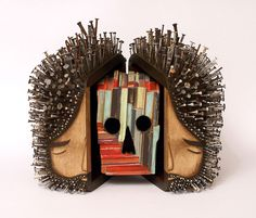 Figurative Found Wood Sculptures Pierced with Hundreds of Nails by Jaime Molina | Colossal