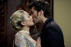 David and Sophia Myles in The Girl in the Fireplace