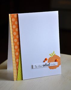 Cutest Little Pumpkin Card by Maile Belles for Papertrey Ink (September 2013)