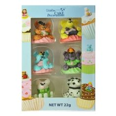3D ASSORTED DOGS BOX OF 6