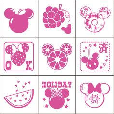 If stationery and office supplies and teaching materials teaching materials club T & Y Disney fruit check stamp CK9-030