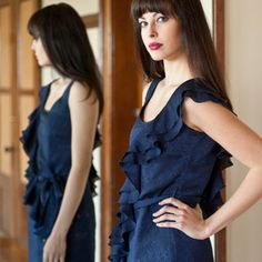 Cascadia Dress Dark Blue now featured on Fab.