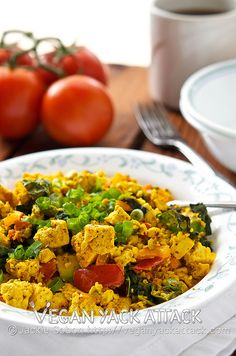 A piping hot plate of homemade Tofu Scramble satisfies better than the stuff from your local vegan diner.