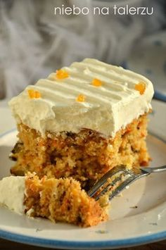 heaven on a plate: The best carrot cake Polish Desserts, Polish Recipes, Pie Recipes, Baby Food Recipes, Sweet Recipes, Dessert Recipes, Cooking Recipes, Dessert For Dinner, Dessert Drinks