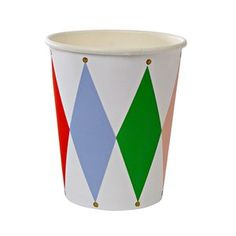 Circus Party Harlequin Paper Cups