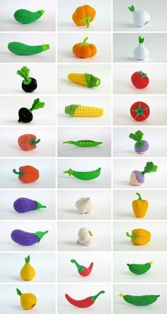 Etsy の Play food Eggplant Gift for kids room décor by MyFruit