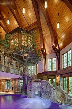 Lakefront Dream Home Lists With Indoor Tree House! (PHOTOS) homes dream house