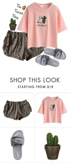 """-Tina Woods-"" by lululisi ❤ liked on Polyvore featuring adidas, WithChic, Puma and John Lewis"