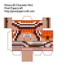 Papercraft Minecraft Xbox 360 Skin Pack 1 Mini's