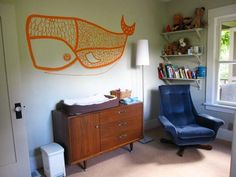 great whale mural @Christa McCaffrey