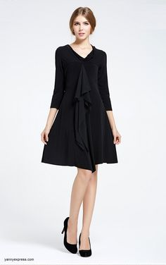 Skater Dress with Wrap Front