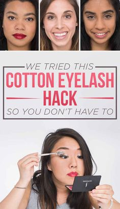 We Tried This Cotton Eyelash Extension Hack So You Don't Have To