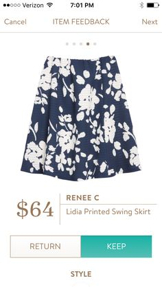 Dear Stitch Fix - Hello spring!  Would love to try a swing skirt...don't have one in my closet now.