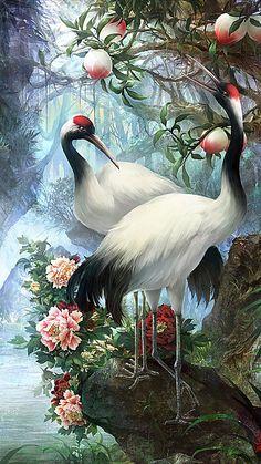 semelhantes clique aqui· Beautiful Landscape Wallpaper, Beautiful Flowers Wallpapers, Scenery Wallpaper, Beautiful Landscapes, Peacock Wall Art, Peacock Painting, Beautiful Nature Pictures, Beautiful Birds, Nature Paintings