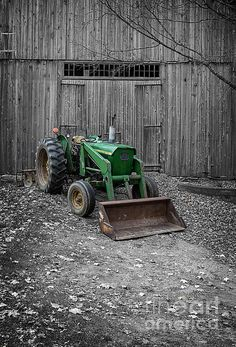 Old John Deere Tractor / Fine Art America by Edward Fielding / photography / touch of color #green