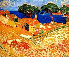 Fauvism is colorful style of painting developed by Henri Matisse and Andre Derain who used vibrant colors, simplified drawing and expressive brushwork. Andre Derain, Henri Matisse, Matisse Art, Raoul Dufy, Amedeo Modigliani, Georges Braque, Modern Artists, French Artists, Fauvism Art