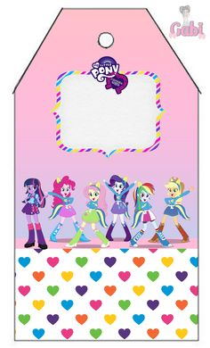 Kit Equestria Girls ( My Little Pony ) Festa Do My Little Pony, My Little Pony Birthday, Equestria Girls, Birthdays, Alice, Kids Rugs, 5 Years, Candy, Patterns