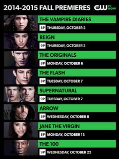 Find out when The Flash  Jane The Virgin premiere and when some of your favorite CW shows return this fall.