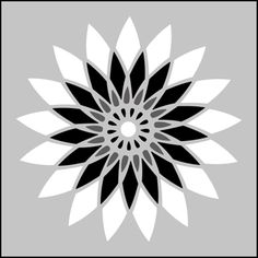 Japanese Dahlia stencils, stensils and stencles