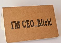 'm CEO...B.... - Mature Content - Moleskine Cahier