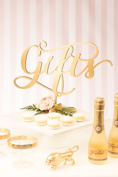 The gifts table is one of the first things your guests will see upon arriving at your wedding. Make a beautiful first impression with this elegant table sign. See the entire collection at www.betteroffwed.co