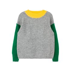 Color Blocked Knit Pullover (1 260 UAH) ❤ liked on Polyvore featuring tops, sweaters, colorblock top, pullover tops, colorblock sweater, block tops and long sleeve tops