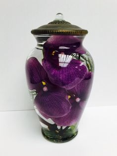 "Lifetime Oil Burning ""Purple Orchid"" Candle"