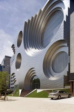Kring Kumho Culture Complex / Unsangdong Architects Best Picture For facade arquitectura For Your Taste You are looking for something, and it is going to te Architecture Design, Cultural Architecture, Futuristic Architecture, Beautiful Architecture, Contemporary Architecture, Installation Architecture, Chinese Architecture, Architecture Office, Building Architecture