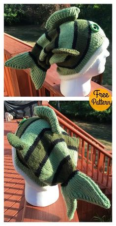 Adult Size Fish Hat Free Knitting Pattern