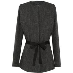 Isabel Marant Flo herringbone wool-tweed jacket ($416) ❤ liked on Polyvore featuring outerwear and jackets