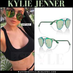 Kylie Jenner wearing Dior Reflected P/S Pixel S6IRU Sunglasses - via wantherstyle