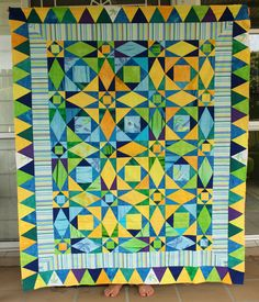 Storm at Sea beach quilt top by Archiquilt | Flickr