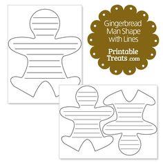 1048 Best Gingerbread Man Printables Images In 2019 Ginger Man