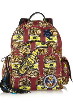 Finds printed canvas backpack