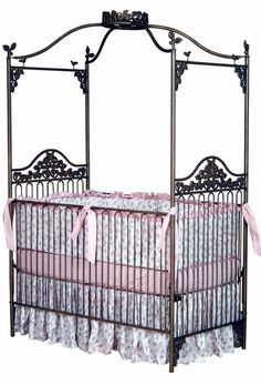 #iron cribs.... I like this for a crib too! May go better in the room