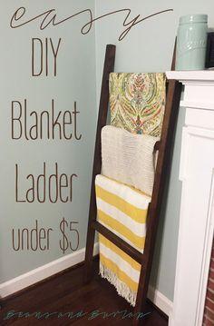 Superior Easy DIY Blanket Ladder
