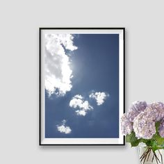 Sky Print Clouds Poster Sky Instant Download by AskPrintables