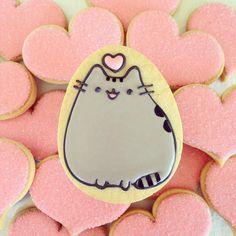 #pusheen #love #hearts #cutesweets #cookiesofinstagram