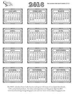Crafty Secrets Heartwarming Vintage Ideas and Tips: Free Printable 2016 Vintage Calendars, Color Me Calendar Template, Inspiring Calendar Ideas Blank Monthly Calendar, Free Printable Calendar, Free Printables, 2015 Calendar, Calendar Ideas, Blog Planner, Life Planner, 2015 Planner, Vintage Calendar