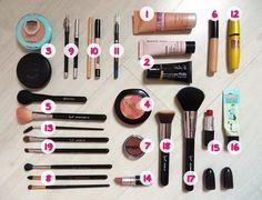 Veja quais são os 15 produtos essenciais para Necessaire básica de maquiagem para iniciantes. Recomendo produtos de qualidade e baratinhos. Confira!